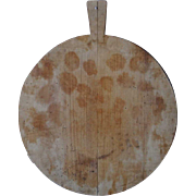 Large French Pine Round Cheese Cutting Board