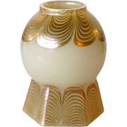 American Tiffany Studios Opalescent Glass Dragged Loop Lamp Shade