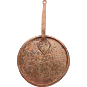 Handmade Hammered Copper Pot Lid with Handle