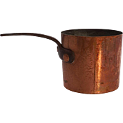 Small Handmade Copper Iron Handle Cooking Pot