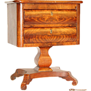 American Empire Mahogany Salesman's Sample Sewing Table Estate of Danny Kaye - Red Tag Sale Item