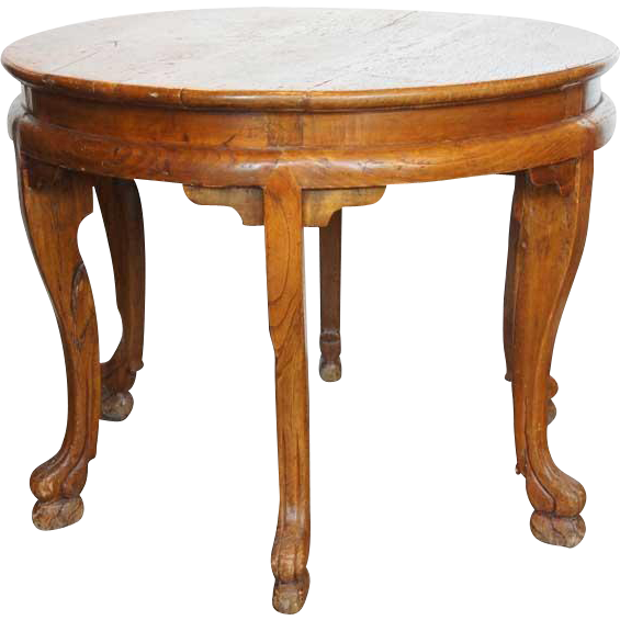 Chinese Jiangxi Camphorwood Round Table