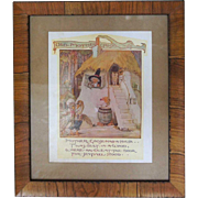 After ANNE ANDERSON, Old Mother Goose Nursery Rhyme Book Illustration Print