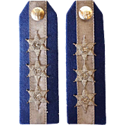 Pair of British Military Uniform Captain Epaulets