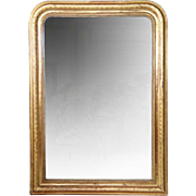 Large French Napoleon III Gilt Diamond Dust Mirror
