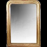 Large French Napoleon III Gilt Mirror