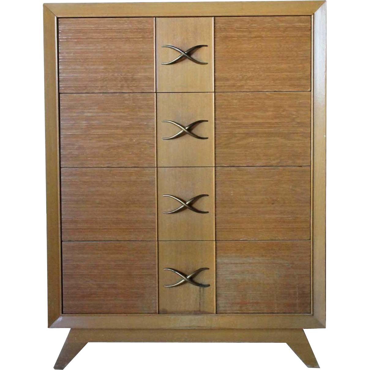 American PAUL T. FRANKL for Brown-Saltman Mid Century Modern Bleached Mahogany Chest of Drawers