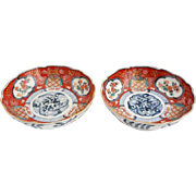 Pair of Japanese Imari Porcelain Bowls