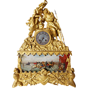 French Louis Philippe Gilt Bronze Figural Mantel Clock