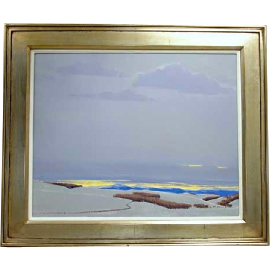 WILLIAM C. HOOK Acrylic Painting on Canvas, Yellow Horizon