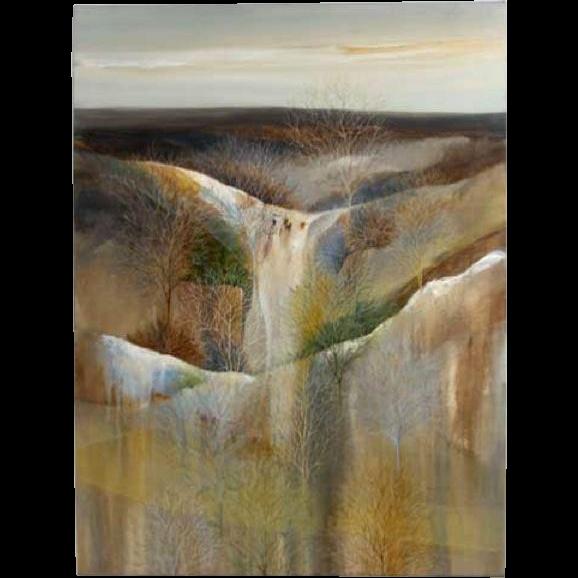 SARAH L. LEWIS Oil Painting on Canvas, Landscape