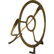 English Georgian Brass Hanging Kettle Stand Trivet