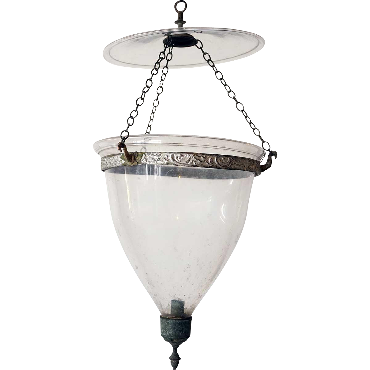 Anglo Indian Regency Style Glass Hall Lantern (Hundi)
