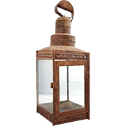 Anglo Indian Red Painted Toleware Portable Lantern