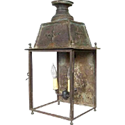 French Copper Outdoor Two-Light Wall Midi Railway Station Lantern