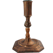 Small Continental Bell Metal Candlestick