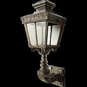 English Victorian Brass Exterior Bracket Lantern