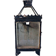 Anglo Indian Black Toleware Wall Lantern