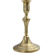 English George III Brass Candlestick