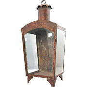 Anglo Indian Painted Toleware Wall Lantern