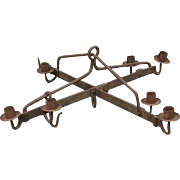 Danish Medieval Style Wrought Iron Seven-Light Chandelier