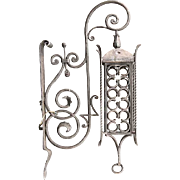 Danish Gothic Revival Wrought Iron Bracket Lantern