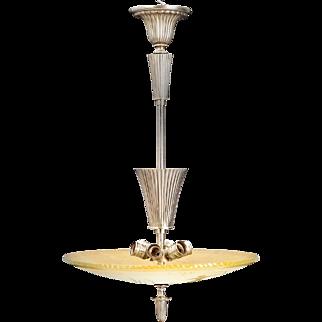Swedish Glass Bowl Shade Pendant Light