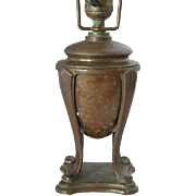 American Tiffany Studios Bronze Small Urn Shape Table Lamp Base