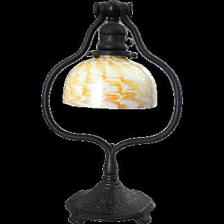 American Tiffany Studios Bronze Zodiac Pattern Table Lamp Base