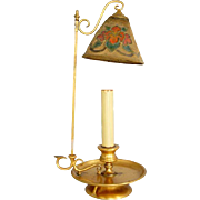 Unusual American Tiffany Furnaces Favrile Bronze Dore Candlestick Table Lamp