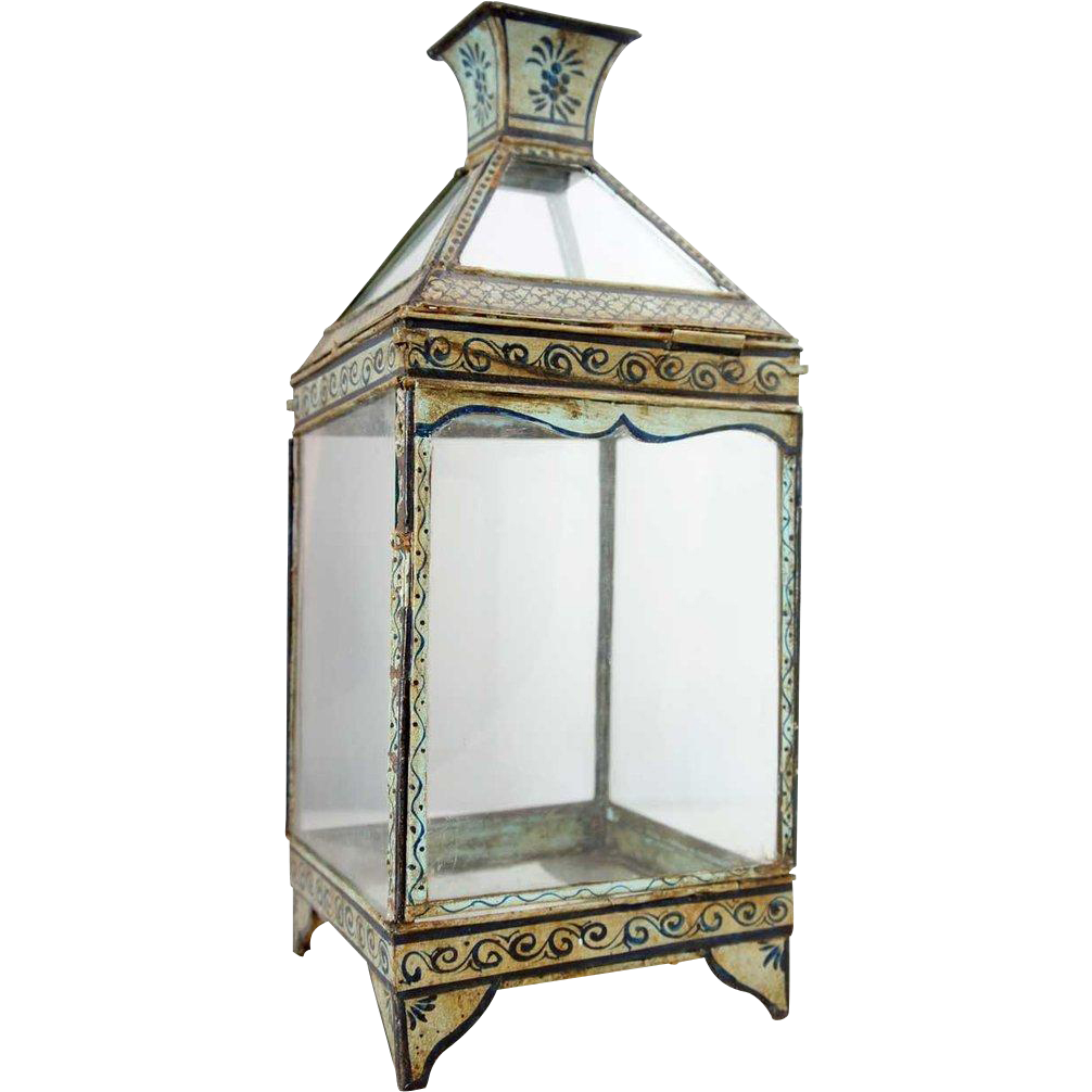 Anglo Indian Painted Toleware Lantern