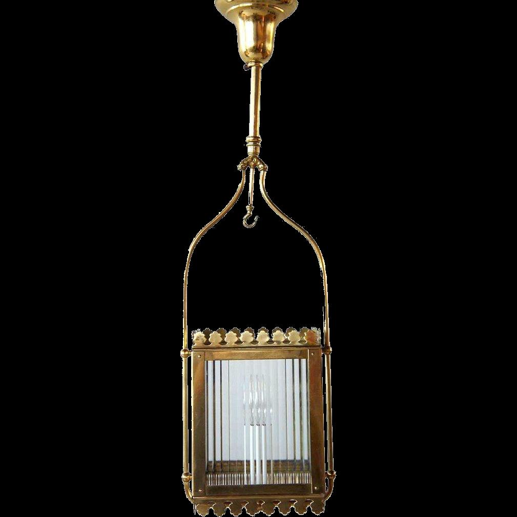 American Victorian Brass Hallway One-Light Hanging Light