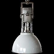 Vintage Industrial Aluminum Enamel Shade Hanging Pendant Light