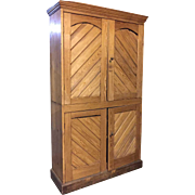 English Country Pine Four-Door Side Cabinet