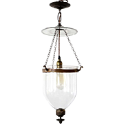 Anglo Indian Glass One-Light Hall Lantern (Hundi)