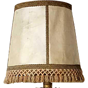 Large Spanish Raw Hide Lamp Shade with Fringe