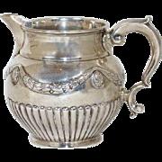 Large English George III Sterling Silver Cream Jug