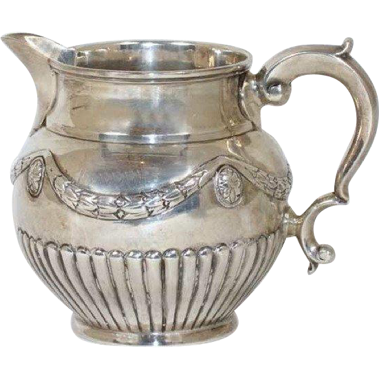 Large English George III Sterling Silver Cream Jug
