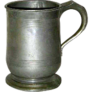 English Victorian Pewter Pint Tavern Measure