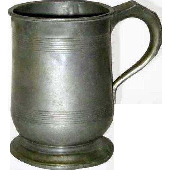English Victorian Pewter Pint Tavern Measure