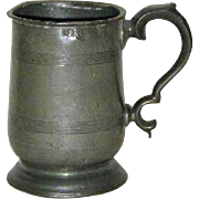 English Victorian Pewter Pint Tavern Mug