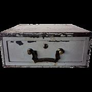 Anglo Indian Painted Metal Lock Drawer Box