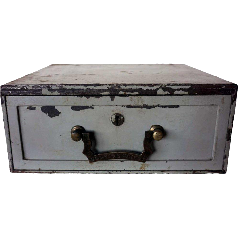 Anglo Indian Painted Metal Lock Drawer Box