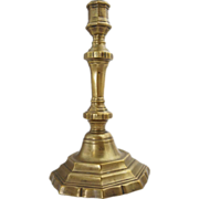 French Louis XIV Brass Candlestick