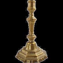 French Louis XIV Brass Candlestick
