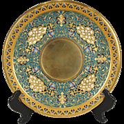 LOUIS-CONSTANT SEVIN Orientalist Bronze-Dore Champleve Plateau