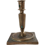 Spanish Baroque Period Cast Brass Candlestick