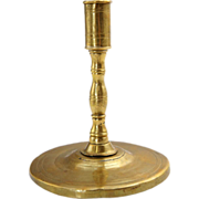 Early Scandinavian Brass Taper Candlestick