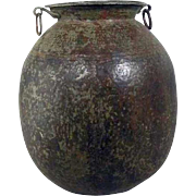 Very Large Indian Hammered Copper Water Storage Pot Garden Jardinere