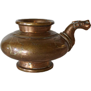 Small Indian Hindu Bronze Water Pot Ewer (Lota)